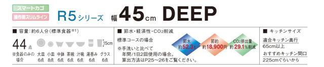 Panasonic ビルトイン食器洗い乾燥機 NP-45RD5S 商品説明